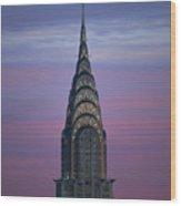 The Chrysler Building At Dusk Wood Print