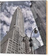 The Chrysler Building In Nyc Usa Wood Print