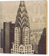 The Chrysler Building New York Wood Print
