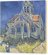 The Church At Auvers Sur Oise Wood Print by Vincent Van Gogh