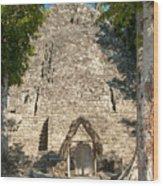 The Church At Grupo Coba At The Coba Ruins  Wood Print