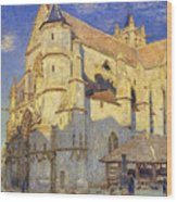 The Church At Moret Wood Print by Alfred Sisley