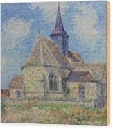 The Church At Porte-joie On The Eure By Gustave Loiseau Wood Print
