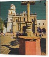 The Church Of San Juan Bautista Of Coyoacan 2  Wood Print