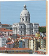 The Church Of Santa Engracia And Rooftops -- Lisbon Wood Print