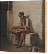 The Cimbalom Player Wood Print