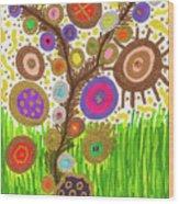 The Circle Tree Wood Print