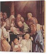 The Circumcision Of The Child Jesus 1640 Wood Print
