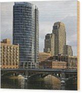 The City Grand Rapids Mi-2 Wood Print