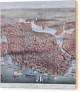 The City Of Boston Wood Print