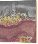 The City Of Nineveh With Stormfront Wood Print