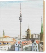 The Cityscape Of Berlin Wood Print