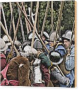 The Clash Of The Pikemen Wood Print