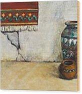 The Clay Pots Wood Print