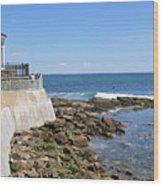 The Cliff Walk Newport Rhode Island 4 Wood Print