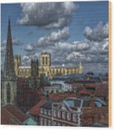 The Clifford Tower View Wood Print