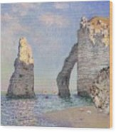 The Cliffs At Etretat Wood Print