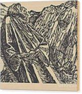 The Cliffs Wood Print