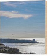 The Cliffs, Ocean And Sky At La Jolla, California Wood Print