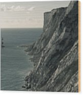 The Cliffs Of Beachy Head And The Lighthouse Wood Print
