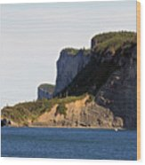 The Cliffs Of Forillon  Wood Print