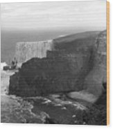 The Cliffs Of Mohar II - Ireland Wood Print by Mike McGlothlen