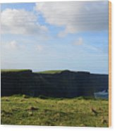 The Cliff's Of Moher In Ireland With Beautiful Skies Wood Print