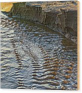 The Cliffs Of Sauble Wood Print