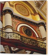 The Clock In The Union Station Nashville Wood Print