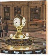 The Clock Wood Print