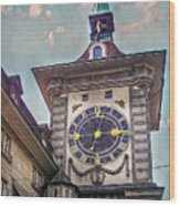 The Clock Of Clocks Wood Print