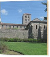 The Cloisters Castle Wood Print by Hasani Blue