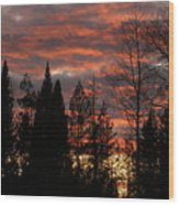 The Close Of Day Wood Print
