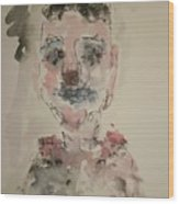 The Clown  C Wood Print