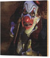 The Clown Wood Print by Mary Hood