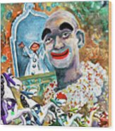 The Clown Of Tivoli Gardens Wood Print