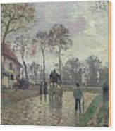 The Coach To Louveciennes Wood Print