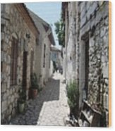 The Cobbled Back Streets Surrounding Old Marmaris Wood Print