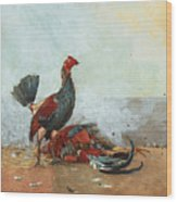 The Cock Fight Wood Print