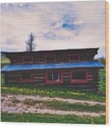 The Cockeyed Cabin Wood Print