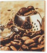 The Coffee Roast Wood Print
