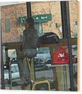 The Coffee Shop Wood Print