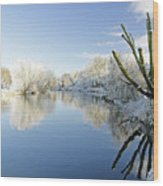 The Cold River Wood Print