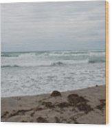 The Cold Sea Wood Print