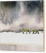 The Cold Walk Wood Print