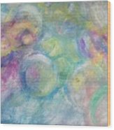 The Color Of Bubbles Wood Print