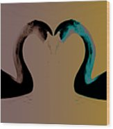 The Color Of Love Wood Print