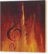 The Color Of Music Wood Print