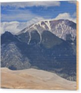 The Colorado Great Sand Dunes  125 Wood Print