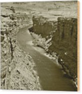 The Colorado River Wood Print